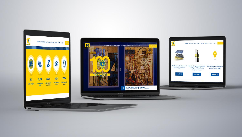 Web design desktop view for Lions Club 1 by 8 Ways