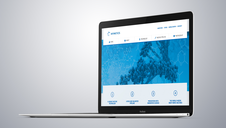 Web design desktop view for Mymetics 1 by 8 Ways