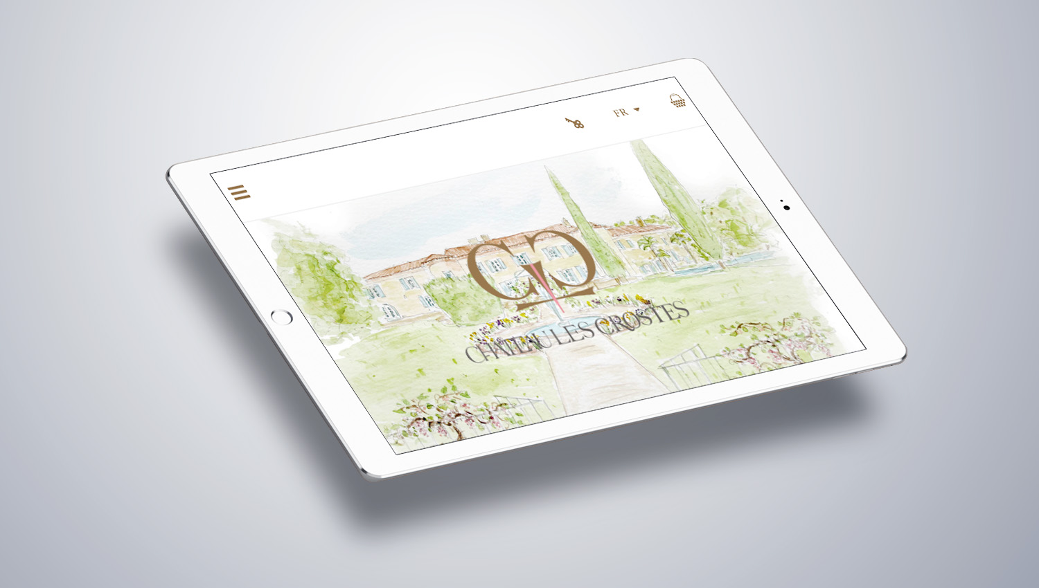 Web tablet desktop view for Château Les Crostes 2 by 8 Ways