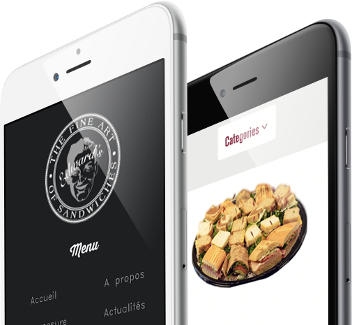 Mobile view design for Edwards Sandwiches