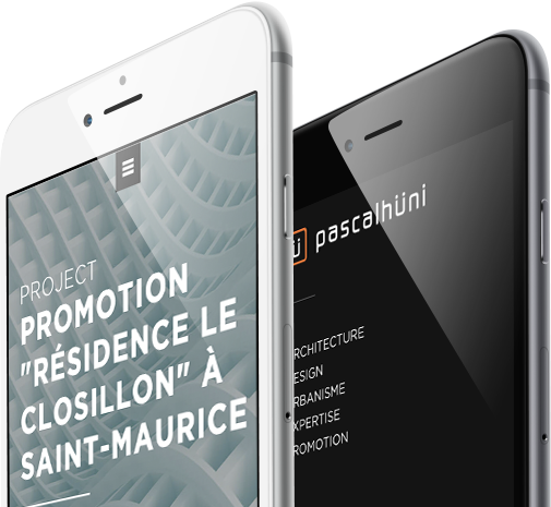 Mobile view design for Pascal Huni