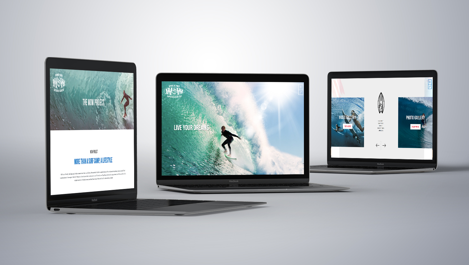 Web design desktop view for Word of Waves 1 by 8 Ways