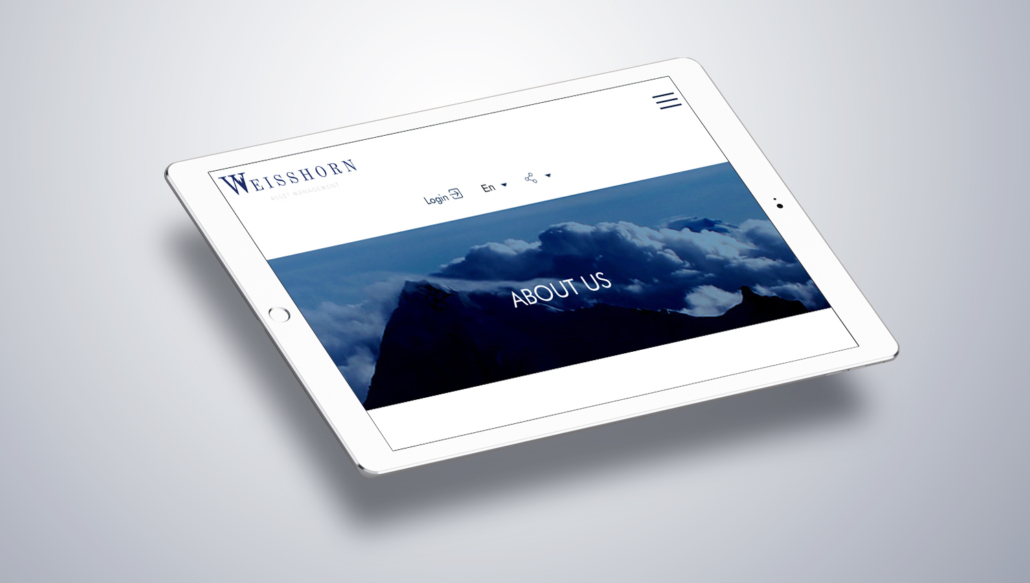 Web design tablet view for Weisshorn 2 by 8 Ways