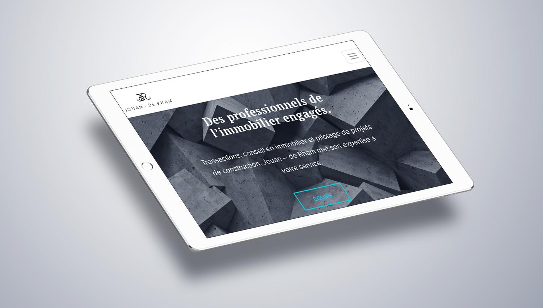 Web design tablet view for Jouan de Rham 2 by 8 Ways