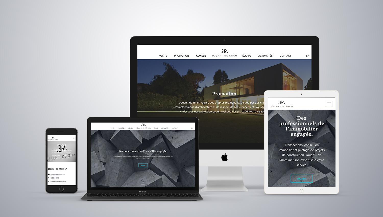 Web design desktop view for Jouan de Rham 1 by 8 Ways