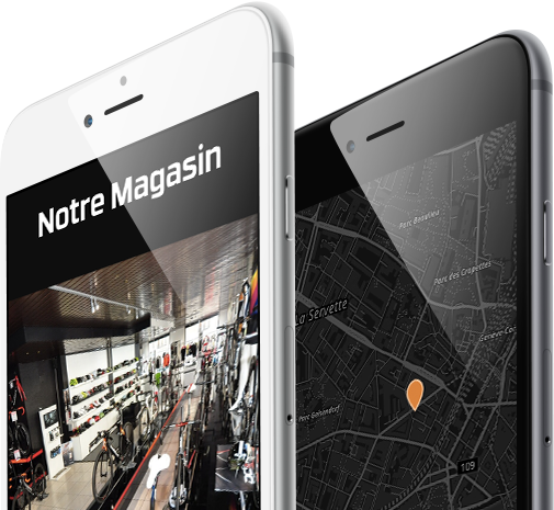 Mobile view design for Bosbikes