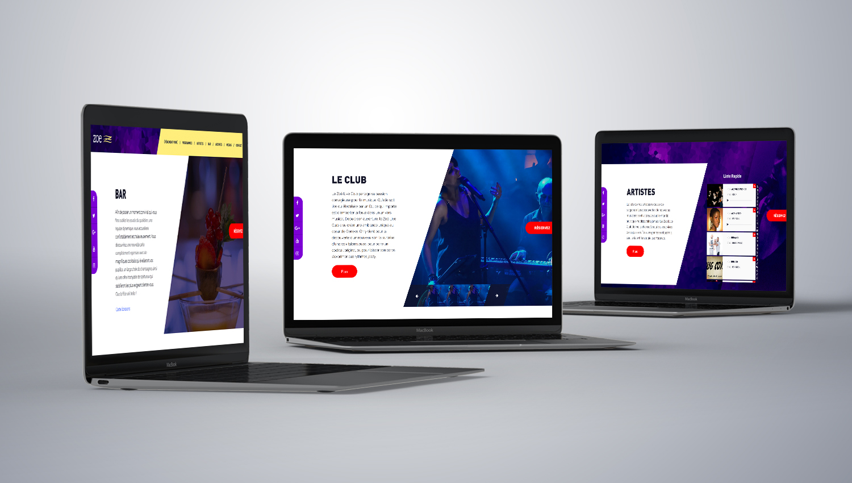 Web design desktop view for ZOE 1 by 8 Ways