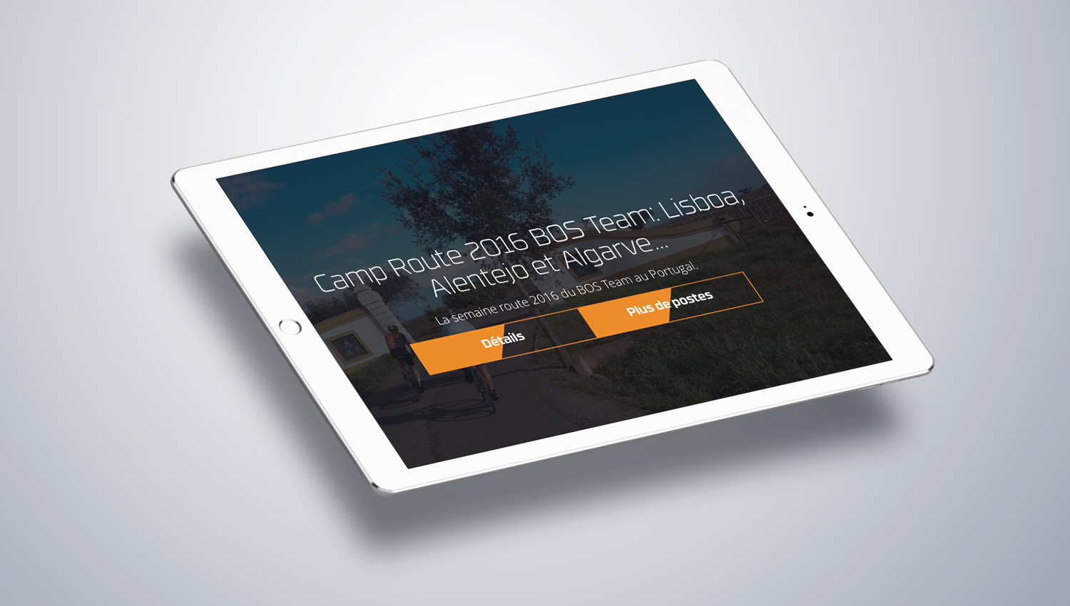 Web design Tablet view for Bosbikes 2 by 8 Ways