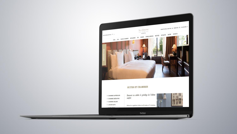 La Réserve Genève Web Design Mockup 1 by 8ways.
