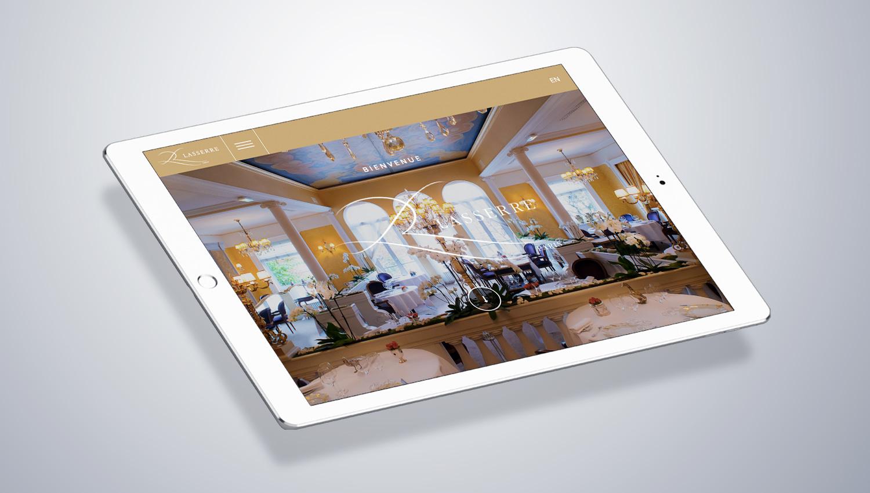 Restaurant Lasserre 2 Web Design Mockup