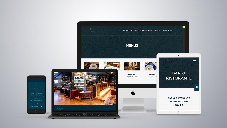 Web design desktop view for Capocaccia 1 by 8 Ways
