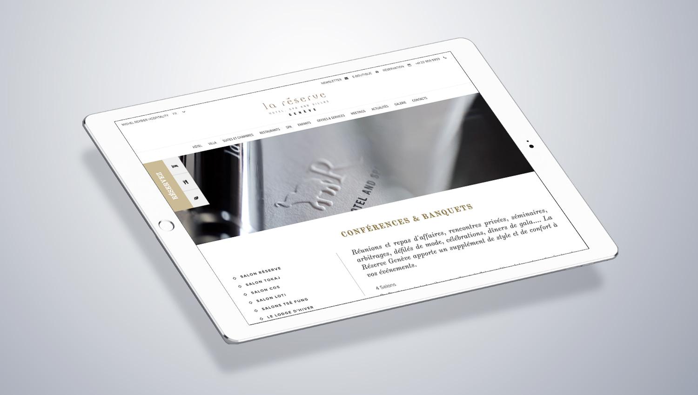 La Réserve Genève Web Design Mockup 2 by 8ways.