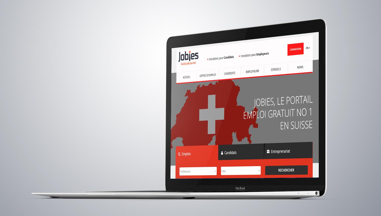 Web design desktop view for Jobies1  by 8 Ways