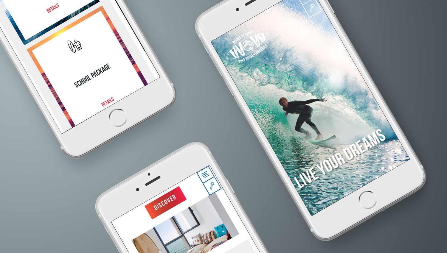 Web design mobile view for Word of Waves 3 by 8 Ways