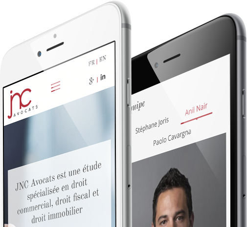 Mobile view design for JNC Avocats