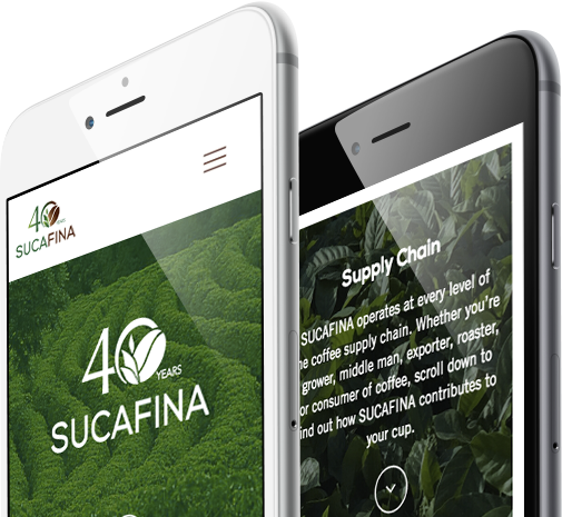 Webdesign responsive view for sucafina by 8 Ways Media SA