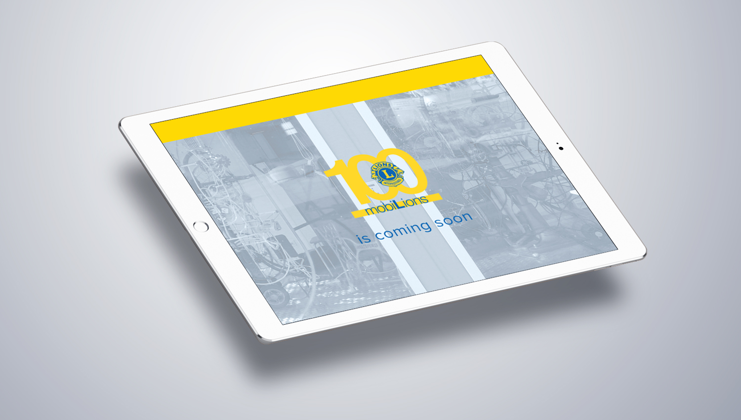 Web design tablet view for Lions Club 2 by 8 Ways