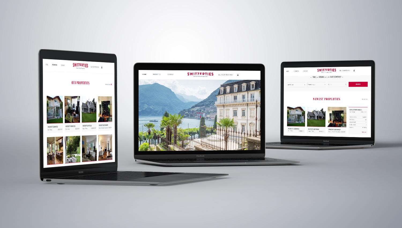 Web design desktop view for Switzerties 1 by 8 Ways