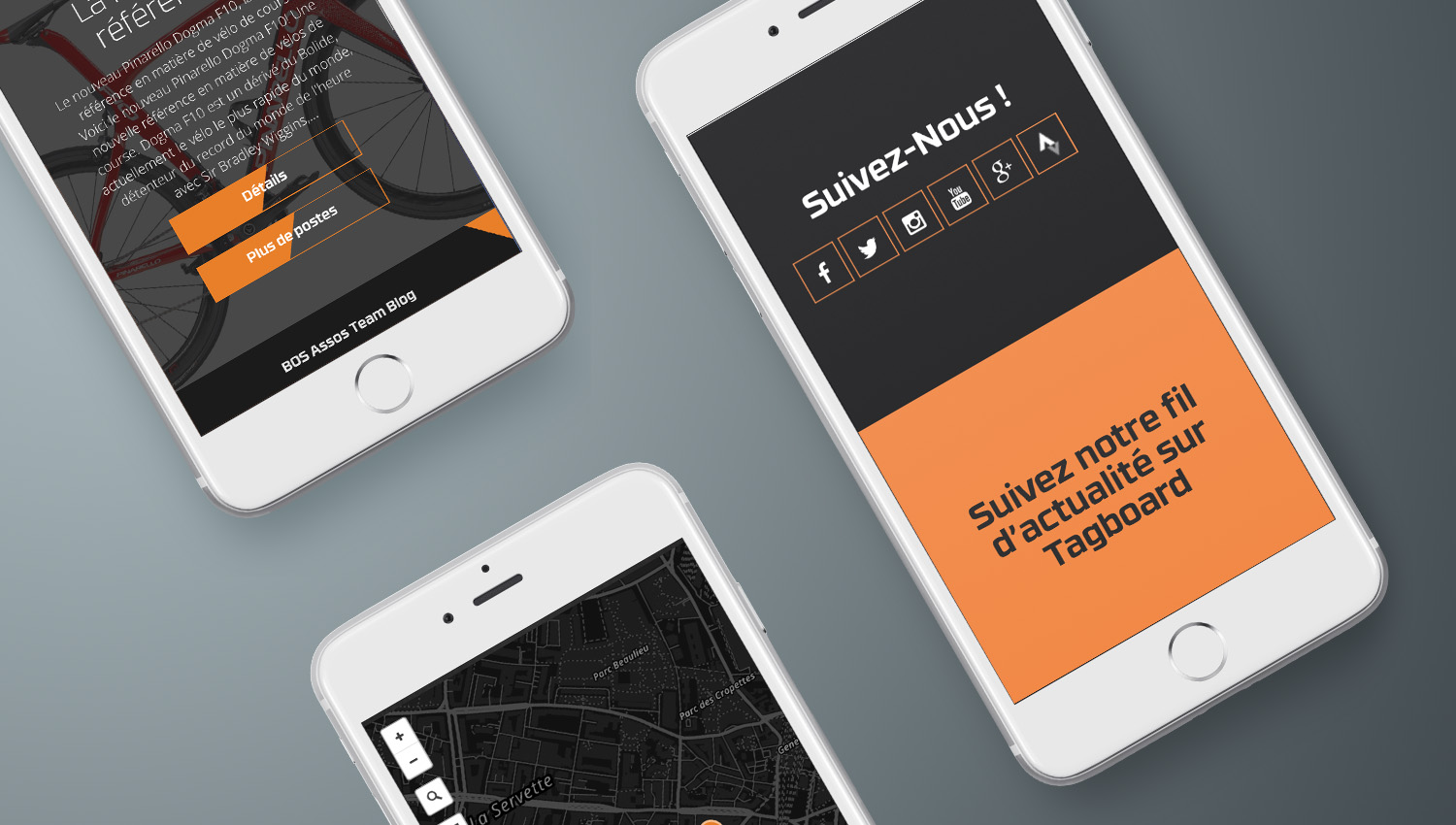 Web design mobile view for Bosbikes 3 by 8 Ways