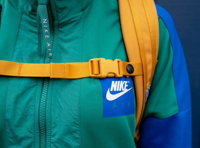 Green and Blue Nike Jacket
