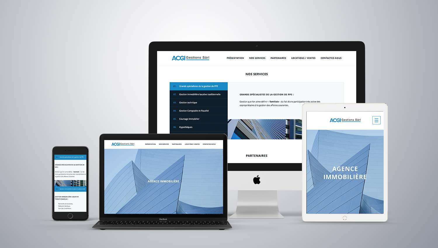Web design desktop view for ACGI 1 by 8 Ways