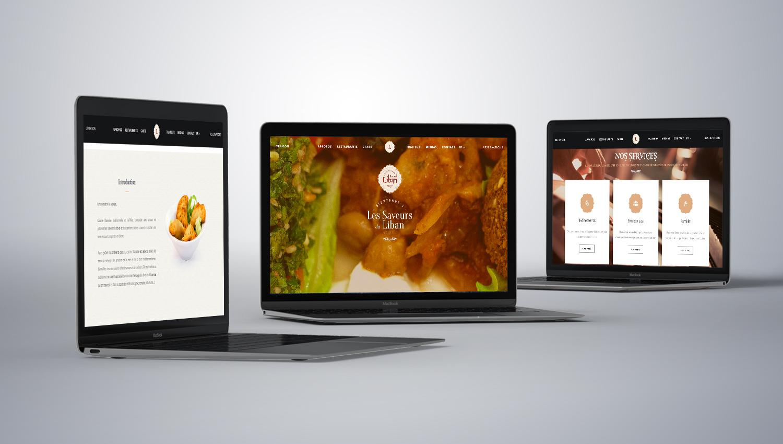 Web design desktop view for LEs Saveurs Du Liban 1 by 8 Ways