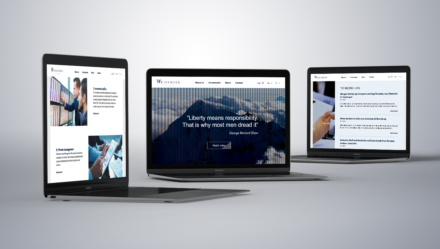 Web design desktop view for Weisshorn 1 by 8 Ways