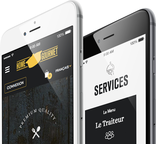 Mobile friendly website for home gourmet by 8ways