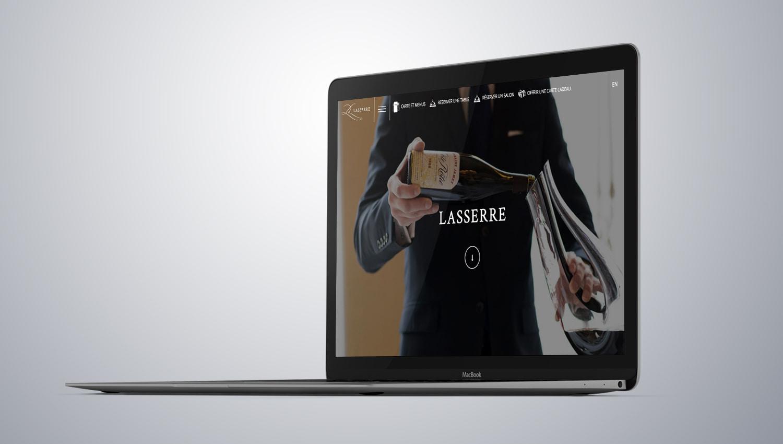 Restaurant Lasserre 1 Web Design Mockup