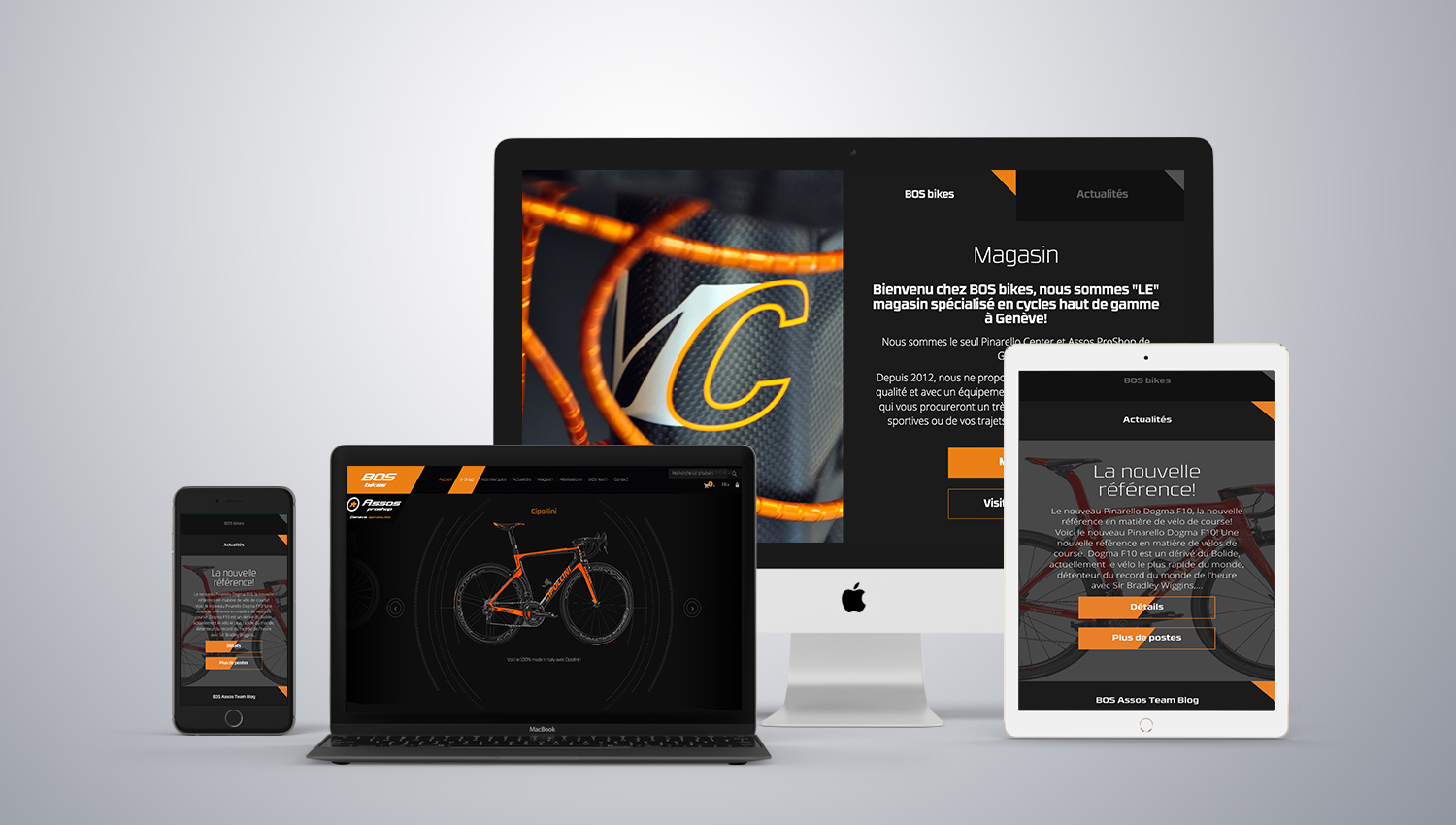 Web design desktop view for Bosbikes 1by 8 Ways