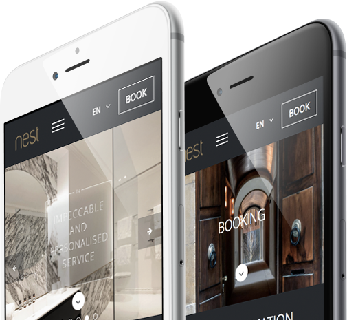 Nest Living Mobile and Responsive view by 8 Ways Media SA